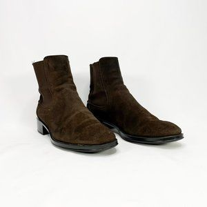 TOD'S Suede Chelsea Ankle Boots Brown